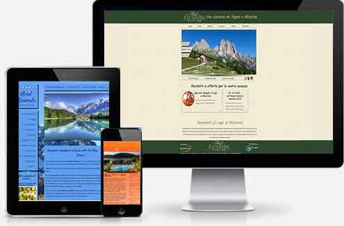 Web design for dinamic website for hotels in Europe, North America, Asia Pacific, Middle East